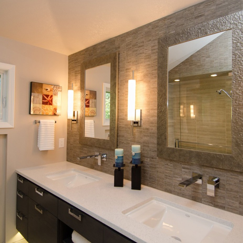 Pangaea Interior Design   Contemporary Master Bathroom with Vaulted ...