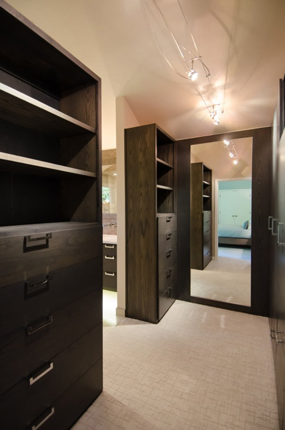 Pangaea Interior Design Master Closet In Custom Gray Ash