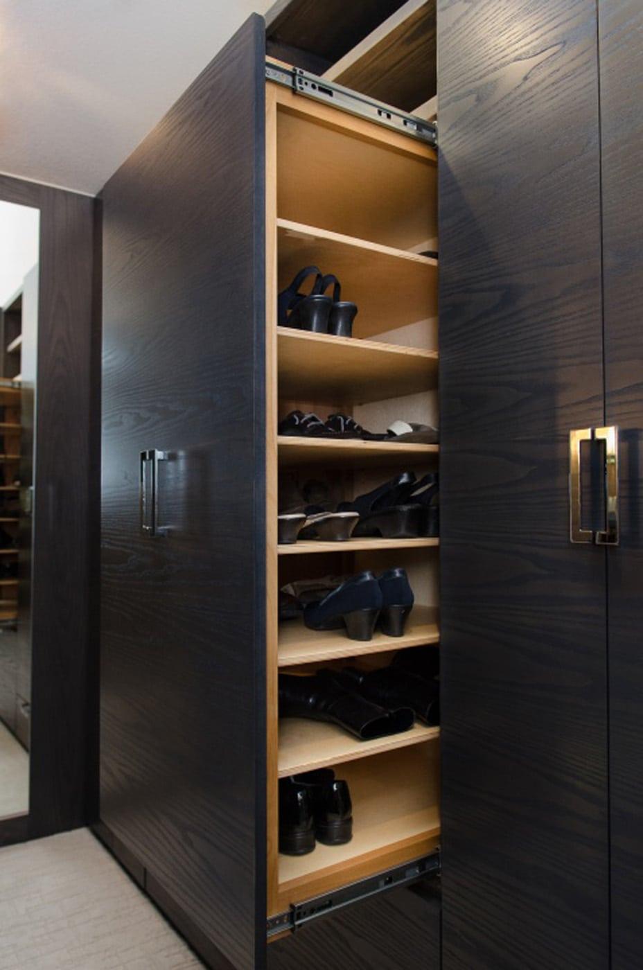 Pangaea interior design master closet in custom gray ash for Design your own bedroom closet