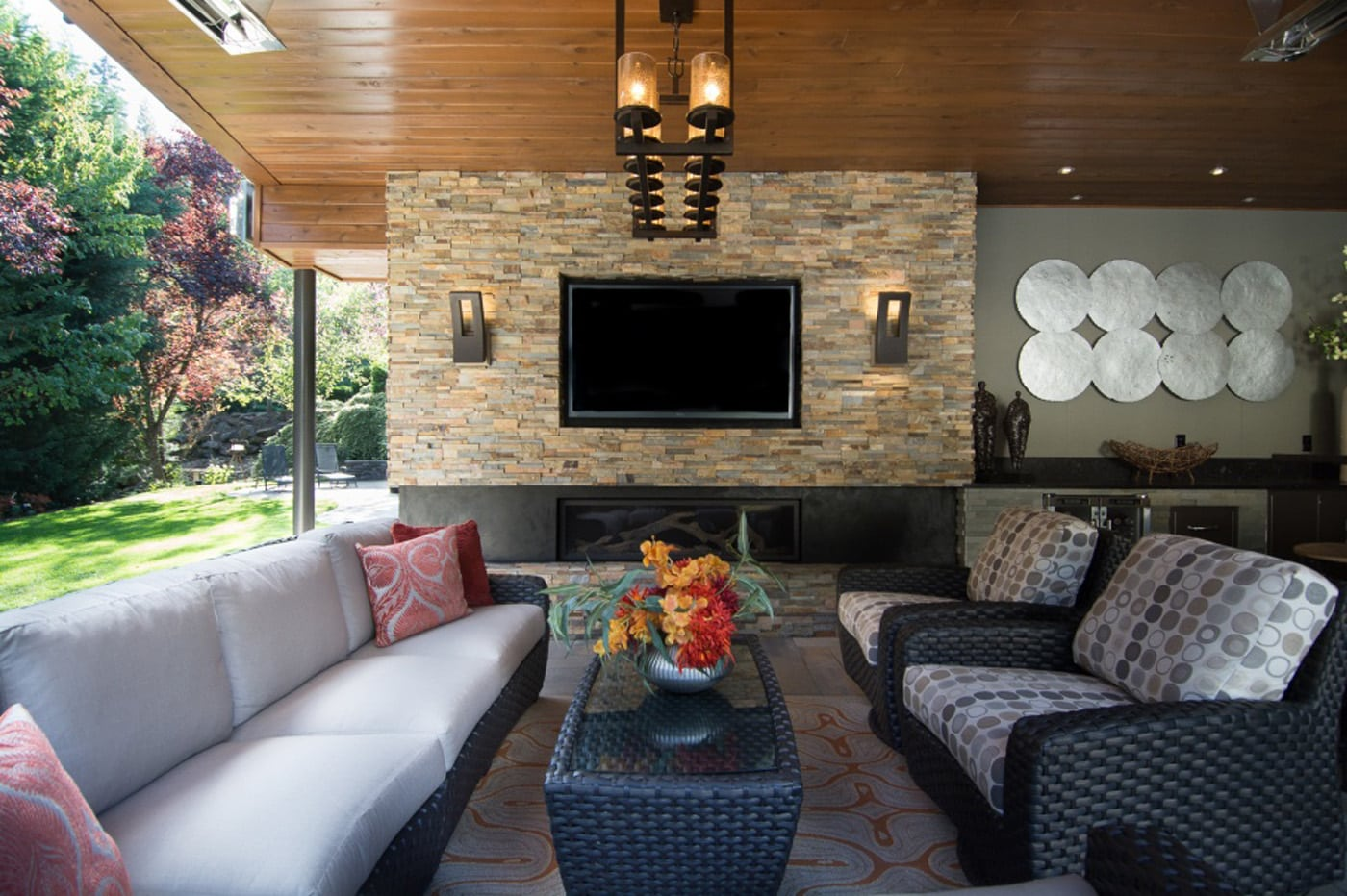 Pangaea Interior Design | Outdoor Living Room and Bar